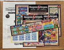 Dungeons Dragons - Shadow Over Mystara - Jamma CPS2 Arcade Art Set NOS Japanese