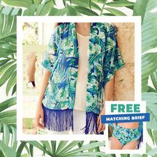 AVON Ladies Womens Holiday Summer Beach Wear Cover Up Kimono Kaftan Size 12 14