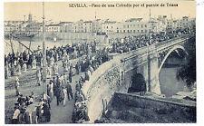 Postal Semana Santa en Sevilla Cofradia por el puente Triana (CM-218)