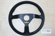 MOMO Modena Black Suede Steering Wheel 350mm 35cm , Made in Italy