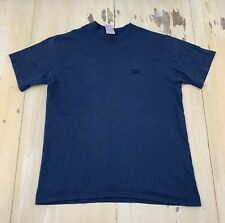 SPEEDO - Vtg 1990s Navy Blue Distressed Made In USA T-shirt, Mens LARGE