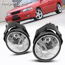 for 00-03 Nissan Sentra/01-04 Frontier Clear Bumper Fog Lights Lamp+Bulbs+Switch