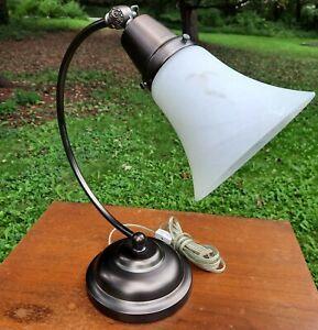 Bronze finish Ottlite 13W Pivoting Desk Lamp glass shade E13DY1 113D82 copper