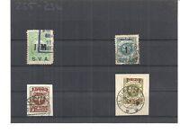 Memel. Litauen 1923, Einzelmarken aus MiNrn: 129 - 192 o, gestempelt o