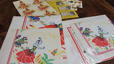 New Old Stock Mexican/Fiesta Paper Table Cloth & Napkins~ 2 Sets & Decals~Crafts