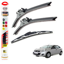 "Fits Nissan Micra 2010-2017 HEYNER SUPER FLAT PREMIUM wiper blades 21""14""12""C"