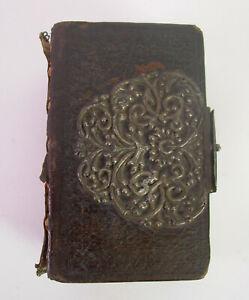-antikes MARIEN Gebetsbuch von 1707 - Ledereinband Prunkschließe 710 Seiten