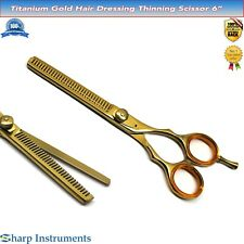 Hair Thinning Scissors, Straight Edge Jaguar Type Hairdressing Barber Shears