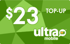 Ultra Mobile  Prepaid $23 Refill Top-Up Prepaid Card ,PIN / RECHARGE