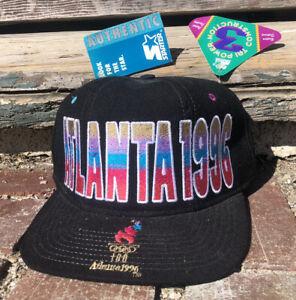 Vintage Starter Olympics Cap Hat Atlanta 1996 New Black Snapback