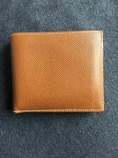 USED AUTHENTIC HERMES Men's Classic Marron Epsom MC2 Copernic Bifold FRANCE
