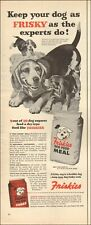 1953 Vintage ad for Friskies Dog Food Meal`Art Beagles puppies (051219)