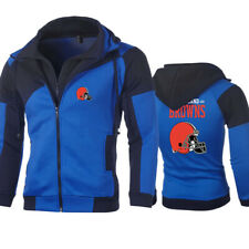 Cleveland Browns Hoodie Men's Zipper Hooded Sweatshirt Sports Jacket Casual Tops