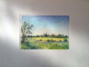 """Franz Ehmke 1928 -2018 GDR Painter° """" Blankenfelde From South Church Rapeseed"""