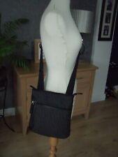CALVIN KLEIN Authentic Black Signature Logo CK Medium Cross Body Bag NEW