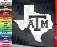 Texas A&M State University Aggies ATM VINYL STICKER DECAL Car Truck 5""