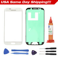 White For Samsung Galaxy S6 edge G925 Front Glass Lens Screen Replacement Kits