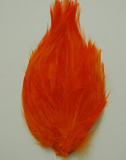 HACKLE FEATHER PAD - BEAUTIFUL ORANGE New Pads; Headband/Hats/Bridal/Dress