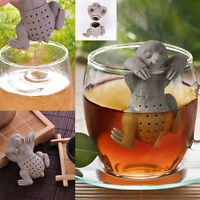 Sloth Shaped Loose Tea Leaf Infuser Silicone Leaf Strainer Spice Filter Diffuser