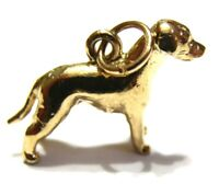 KAEDESIGNS, New 3D 9ct 375 Yellow or Rose or White Gold  DOG CHARM or PENDANT
