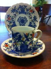 Demi Tea Cup And Two Saucer Birds And Flowers