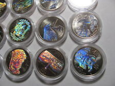 SINGLE HOLOGRAM STATE QUARTER 2004-2008 SILVER BACKGROUND NEW COIN CAPSULE