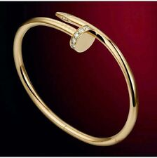 Cartier Diamond Nail , Juste UN Clou Bangle , 18K yellow Gold Bracelet size 17