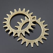 10PCS Antiqued Bronze Tone Gear Shaped Alloy Charm Jewelry Pendant 22*22mm