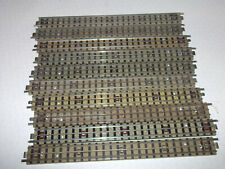 10 x Hornby Dublo 3 rail long straights in used condition.