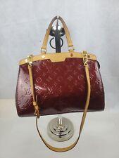 LOUIS VUITTON Pomme D'Amour Monogram Vernis Brea PM hand Bag purse red