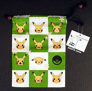Pokemon Dice Bag Pokemon Block Check Shantung Cotton 20.0 x 15.0 cm