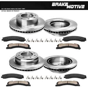 For 2012 - 2019 Nissan NV1500 NV2500 NV3500 Front+Rear Brake Rotors Ceramic Pads