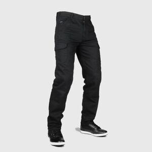 Bull-It Hommes Tactique SP75 Cargo Noir Facile Moto Jeans - Court