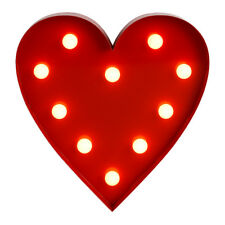 Contemporary Battery Operated Red Heart Shaped LED Decorative Light