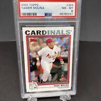 2004 Topps Chrome Yadier Molina RC Rookie Cardinals #219 PSA NM-MT 8 Graded