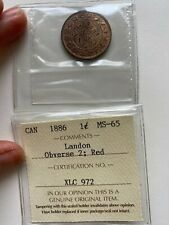 1886 Canada 1 Cent MS 65 , Obverse 2; Red