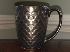 CUISINART Ceramic Stoneware Anais Collection Coffee Mug Cup Brown Bronze Scallop