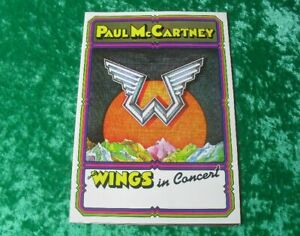 Paul McCartney and Wings in Concert - 12-page Folder Programm Poster 1975 (UK)