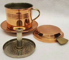 Copper Coffee Drip Brewer For Cup Made In France