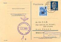 DDR 1955 selt. Zuleitung von Ost-Berlin zum KLM Erstflug Amsterdam - Sao Paulo
