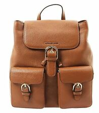 NWT Michael Kors COOPER Small Flap Pebbled Leather Backpack LUGGAGE Brown $328