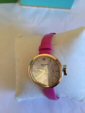 KATE SPADE WATCH PARK ROW WHITE MOP DIAL DATE LEATHER STRAP LADIES KSW1268 NEW