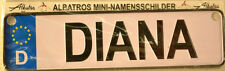 DIANA mini-namensschild (Auto - TARGHE AUTO )
