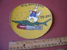 WWII USN DISNEY GOOSE USS HACKLEBACK  SS-295 SUBMARINE  JACKET  PATCH
