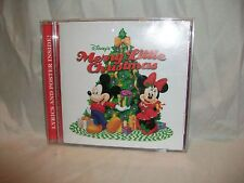 Walt Disney Records 2006 Merry Little Christmas CD Poster Mickey Minnie Music