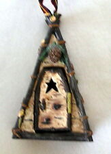 Bear A-frame Outhouse Christmas Tree Ornament Collectible New