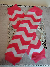 girls boys infant toddler child leg warmers arm warmers hot pink chevron