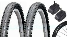 2 Bicycle Tyres Bike Tires - Mountain Bike - 26 x 1.95 VC-5030 - Schrader Tubes