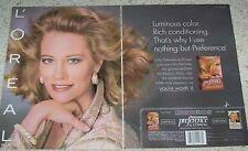 1993 print ad - CYBILL SHEPHERD - Loreal Preference hair color haircolor L'Oreal