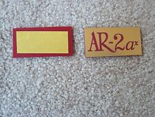 ACOUSTIC RESEARCH AR-2ax  NEW REPLACEMENT LOGO PLATES - PAIR